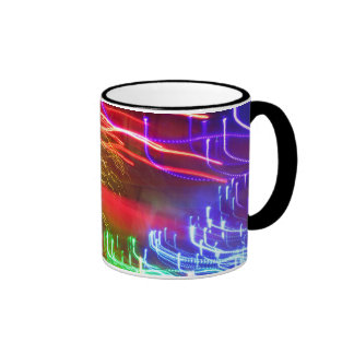 Horizontal Red Blue Green Abstract Coffee Mugs