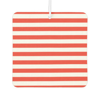 Horizontal Red Stripes Car Air Freshener