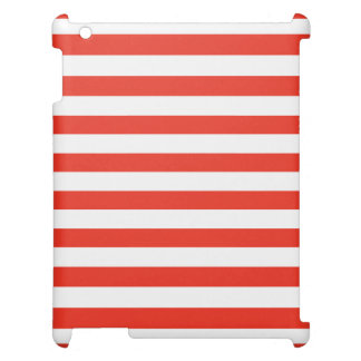 Horizontal Red Stripes Cover For The iPad 2 3 4