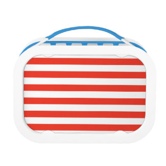 Horizontal Red Stripes Lunch Box