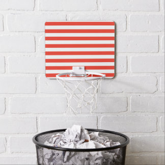 Horizontal Red Stripes Mini Basketball Hoop