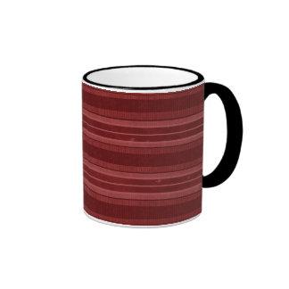 Horizontal Red Stripes Ringer Mug