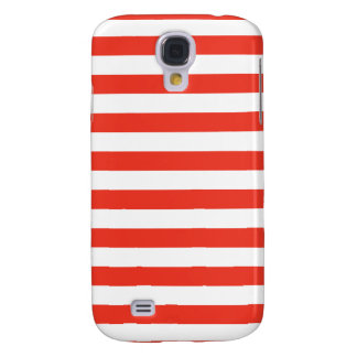 Horizontal Red Stripes Samsung Galaxy S4 Cover