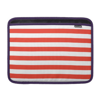 Horizontal Red Stripes Sleeve For MacBook Air