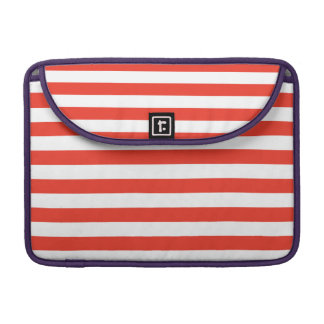 Horizontal Red Stripes Sleeve For MacBooks