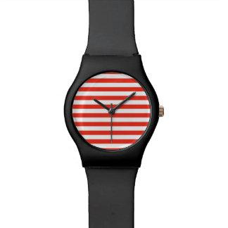 Horizontal Red Stripes Watch