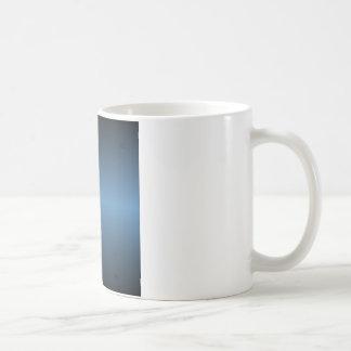 Horizontal Steel Blue and Black Gradient Coffee Mug