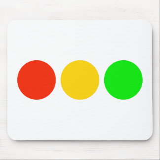Horizontal Stoplight Colors Mouse Pad