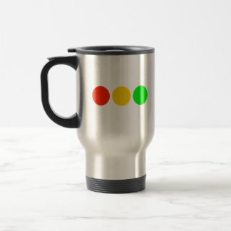 Horizontal Stoplight Colors Travel Mug