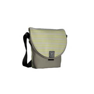 Horizontal Striped Messenger Bag
