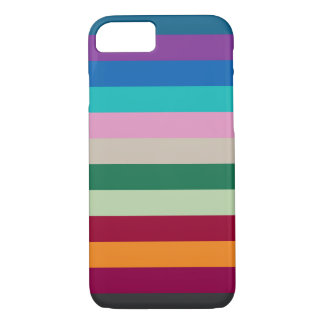 Horizontal Stripes In Fall Colors iPhone 8/7 Case