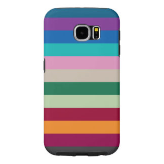 Horizontal Stripes In Fall Colors Samsung Galaxy S6 Cases