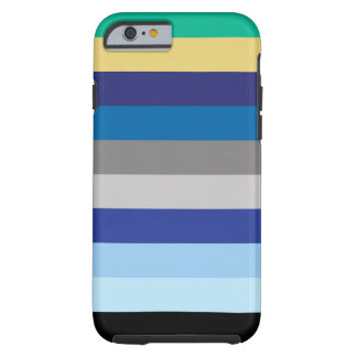 Horizontal Stripes In Winter Colors Tough iPhone 6 Case