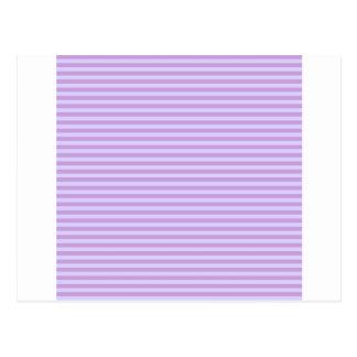 Horizontal Stripes - Wisteria and Pale Lavender Postcard