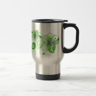 Horizontal Swirl Stainless Steel Travel Mug