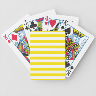 Horizontal Yellow Stripes Bicycle Playing Cards
