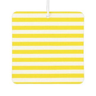 Horizontal Yellow Stripes Car Air Freshener
