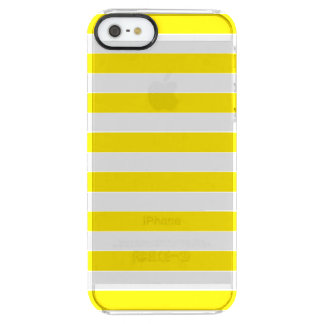 Horizontal Yellow Stripes Clear iPhone SE/5/5s Case