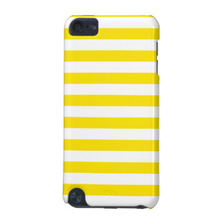 Horizontal Yellow Stripes iPod Touch 5G Covers