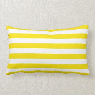 Horizontal Yellow Stripes Lumbar Cushion