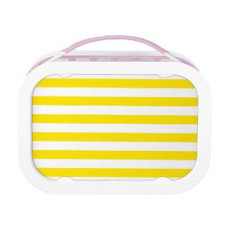 Horizontal Yellow Stripes Lunch Box