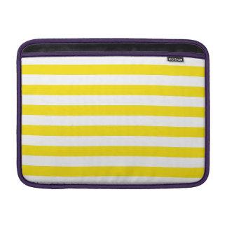 Horizontal Yellow Stripes MacBook Sleeve