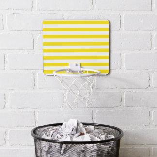 Horizontal Yellow Stripes Mini Basketball Hoop