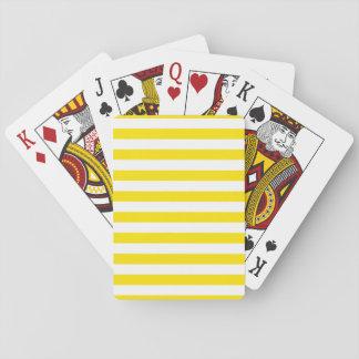 Horizontal Yellow Stripes Playing Cards