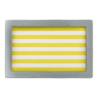 Horizontal Yellow Stripes Rectangular Belt Buckle