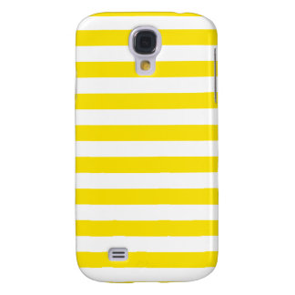 Horizontal Yellow Stripes Samsung Galaxy S4 Case