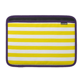 Horizontal Yellow Stripes Sleeve For MacBook Air