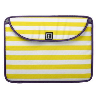 Horizontal Yellow Stripes Sleeve For MacBooks