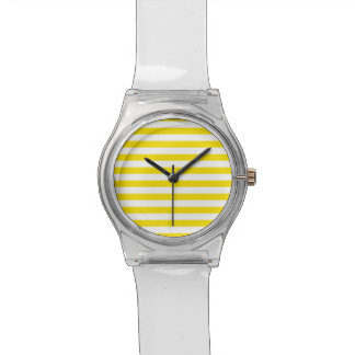 Horizontal Yellow Stripes Watch