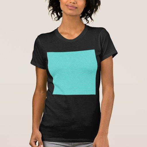 Horizontal Zigzag - Celeste and Turquoise Shirt