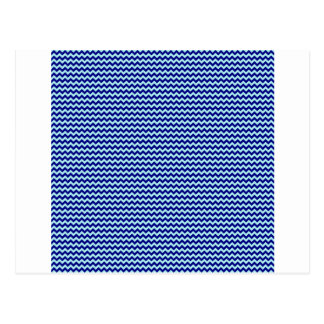 Horizontal Zigzag - Pale Blue and Navy Blue Postcard