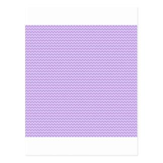 Horizontal Zigzag - Wisteria and Pale Lavender Postcard
