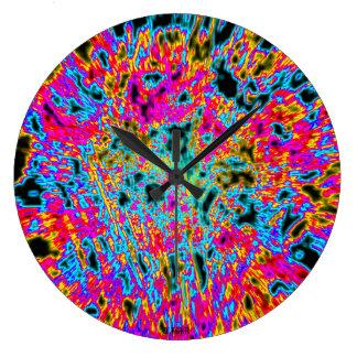 HORLOGE LARGE CLOCK HORTENSIA FEERIQUE BB