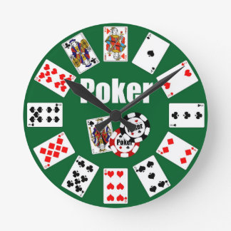 Horloge POKER Click for Graph Round Clock
