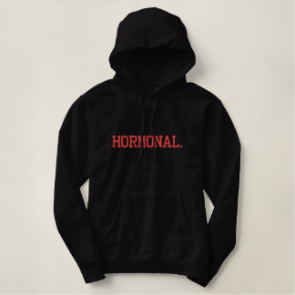 Hormonal Embroidered Hoodie