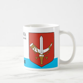 Horn and Sword Knight Shield from Estonia Coffee Mug