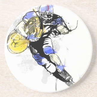 horn football coaster