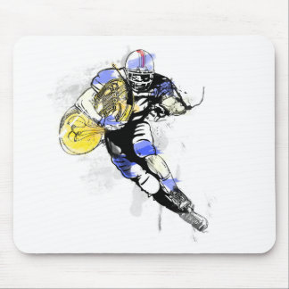horn football mouse pad