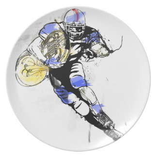 horn football plate