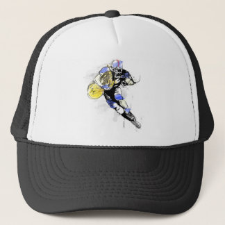 horn football trucker hat