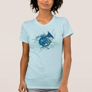 Horn Grunge Blue Music T-shirt
