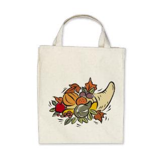 Horn o' plenty Thanksgiving Design Canvas Bags