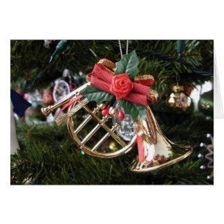Horn Ornament Christmas Card