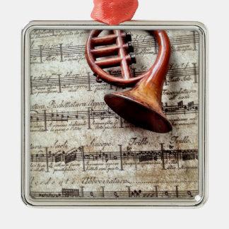 horn ornament on music premium ornament