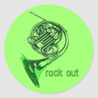Horn Rock Out Stickers
