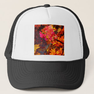 Horn with flowers to Thanksgiving Trucker Hat